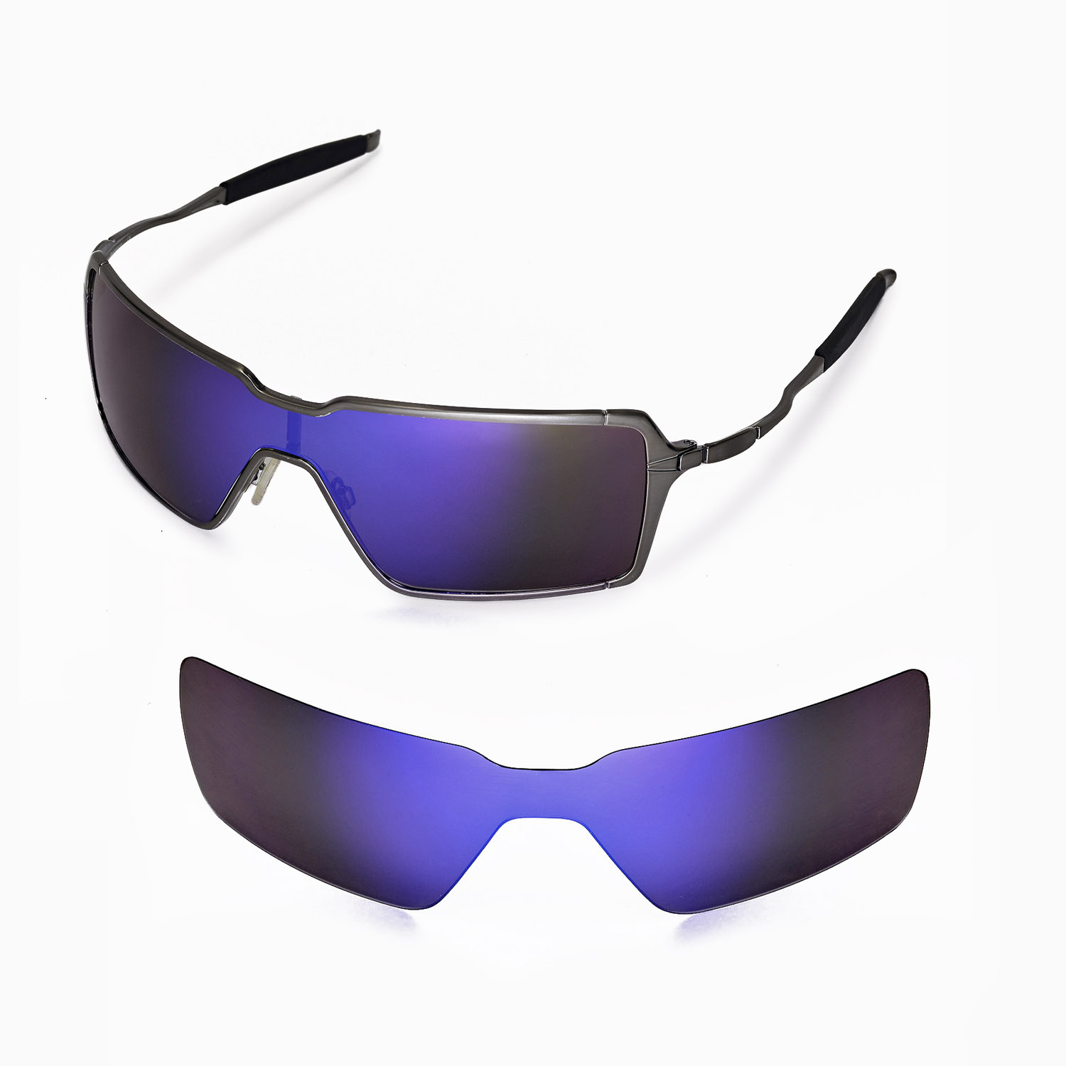 oakley 5 sunglasses  New WL Polarized Purple Replacement Lenses For Oakley Probation ...