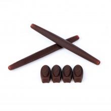 Walleva Brown Rubber Kit For Oakley X Metal Series Sunglasses