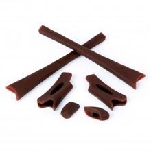 Walleva Brown Rubber Kit For Oakley FlakJacket/FlakJacket XLJ Sunglasses