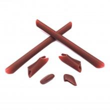 Walleva Brown Rubber Kit For Oakley Half Jacket/Half Jacket XLJ Sunglasses