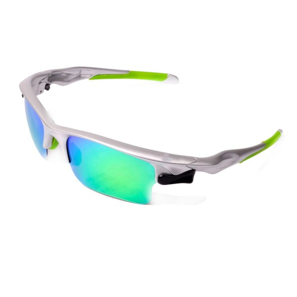 fast jacket oakley sunglasses qtcq  Walleva Green Rubber Kit For Oakley Fast Jacket/Fast Jacket XL Sunglasses