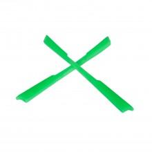 Walleva Fluorescent Green Earsocks For Oakley M2  Sunglasses