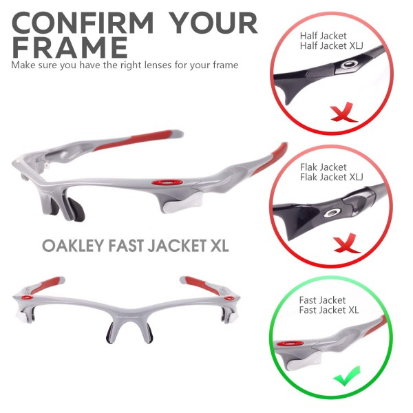 Walleva Clear Replacement Lenses For Oakley Fast Jacket Xl