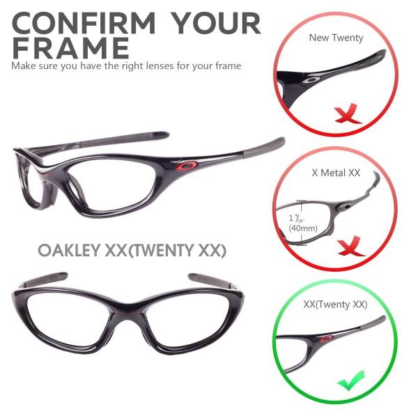 Walleva Replacement Lenses For Oakley Xx Old Twenty