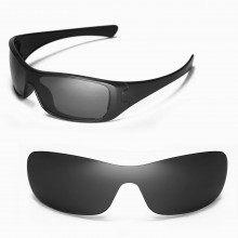 Walleva Replacement Lenses for Oakley Antix Sunglasses - Multiple Options Available (Black - Polarized)