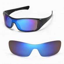 Walleva Replacement Lenses for Oakley Antix Sunglasses - Multiple Options Available (Ice Blue Coated - Polarized)
