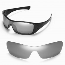 Walleva Replacement Lenses for Oakley Antix Sunglasses - Multiple Options Available (Titanium Mirror Coated - Polarized)