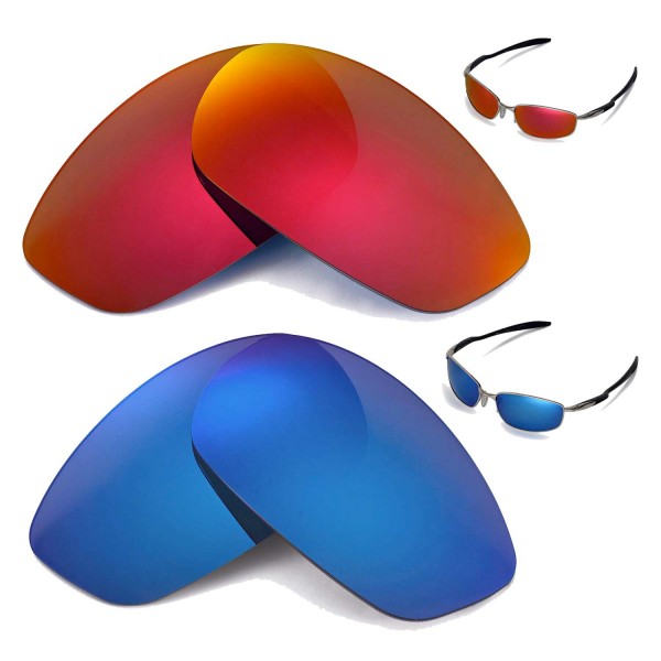 Oakley Blender Sunglasses  walleva polarized fire red ice blue replacement lenses for
