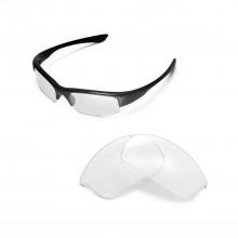 Walleva Clear Replacement Lenses for Oakley Bottlecap Sunglasses