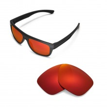New Walleva Polarized Fire Red Replacement Lenses For Oakley Breadbox Sunglasses