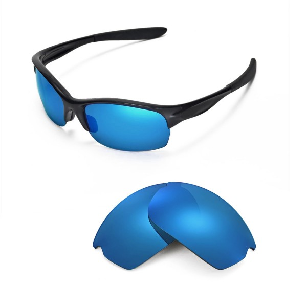 Oakley Commit Sunglasses  new walleva polarized ice blue replacement lenses for oakley