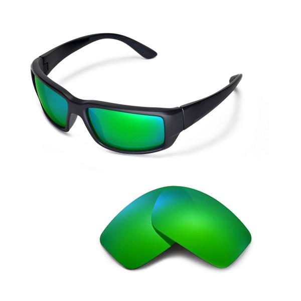Costa Fantail Sunglasses  walleva polarized emerald lenses for costa del mar fantail sunglasses