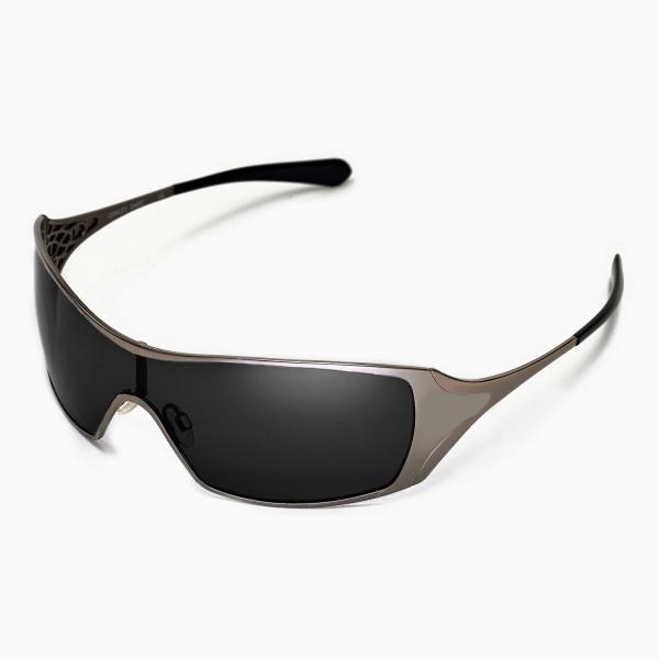 oakley power glasses 0mqk  New Walleva Polarized Black Replacement Lenses for Oakley Dart Sunglasses