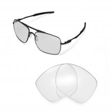 Walleva Clear Replacement Lenses for Oakley Deviation Sunglasses