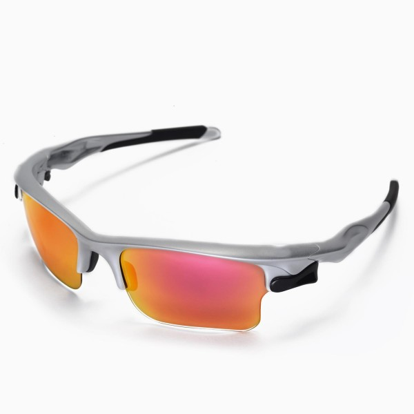 Oakley Fast Jacket Sunglasses  walleva fire red replacement lenses for oakley fast jacket xl