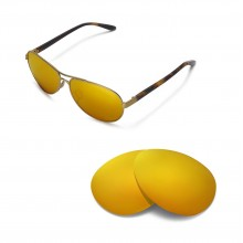 New Walleva Polarized 24K Gold Replacement Lenses For Oakley Feedback Sunglasses