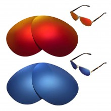 New Walleva Polarized Fire Red + Ice Blue Replacement Lenses For Oakley Feedback Sunglasses