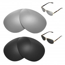 New Walleva Polarized Titanium + Black Replacement Lenses For Oakley Feedback Sunglasses
