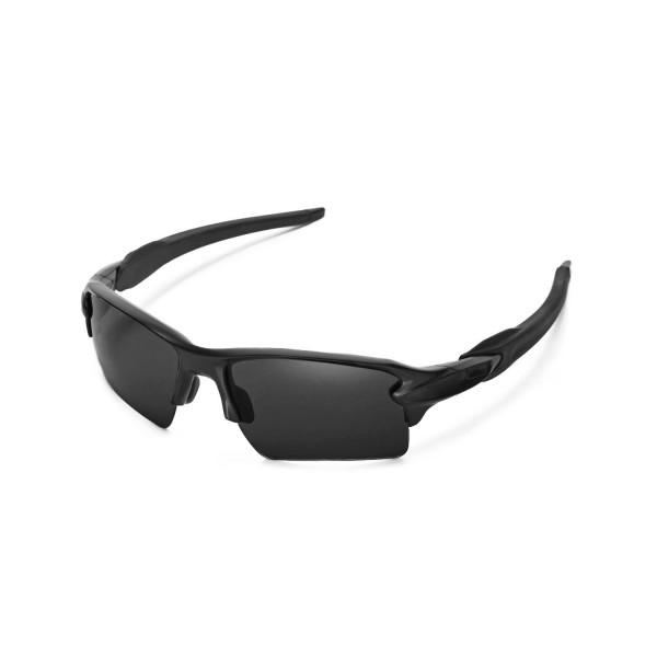 oakley polarized flak 2.0 xl urmb  New Walleva Polarized Titanium + Black Replacement Lenses For Oakley Flak  20 XL Sunglasses