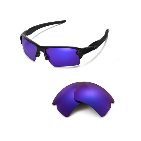 oakley polarized flak 2.0 xl urmb  New Walleva Polarized Purple Replacement Lenses For Oakley Flak 20 XL  Sunglasses