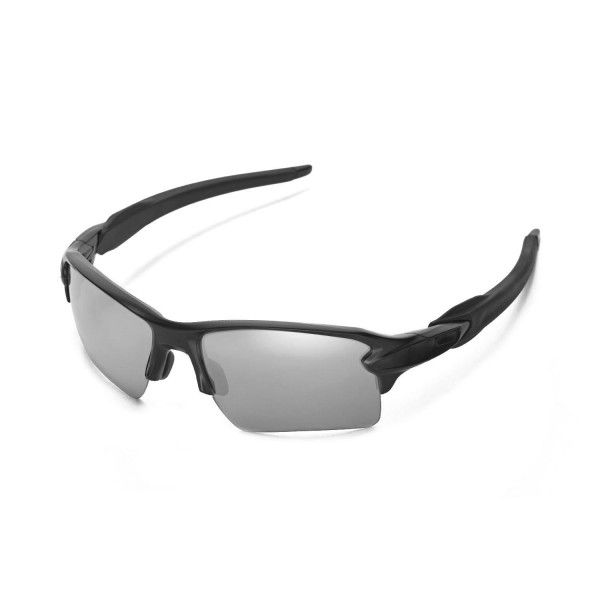 df7db86efe Oakley Flak 2.0 XL Sunglasses OO9188-08 Polished Black ... New Walleva  Polarized Titanium + Black Replacement Lenses .