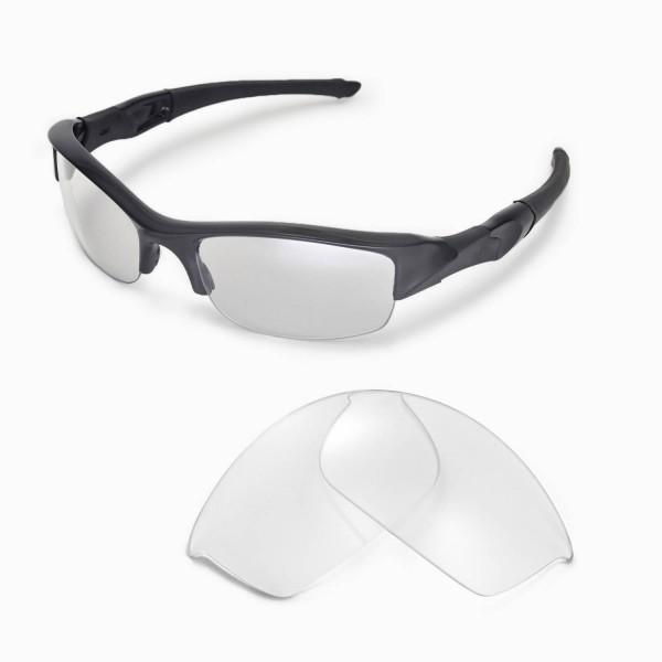 Oakley Flak Sunglasses  walleva clear replacement lenses for oakley flak jacket sunglasses