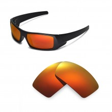 Walleva Polarized Fire Red ISARC Replacement Lenses for Oakley Gascan Sunglasses