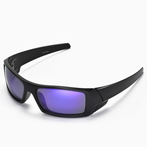 oakley mens gascan polarized asian fit sunglasses  walleva polarized purple replacement lenses for oakley gascan asian fit sunglasses