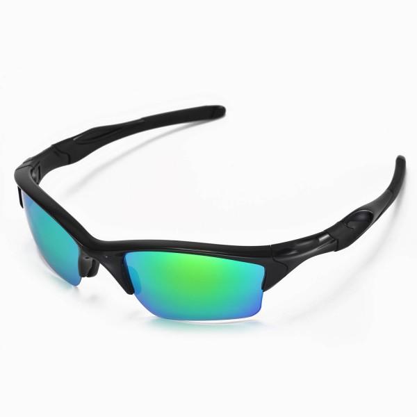 aftermarket oakley lenses eglv  Walleva Emerald Polarized Replacement Lenses for Oakley Half Jacket 20 XL  Sunglasses