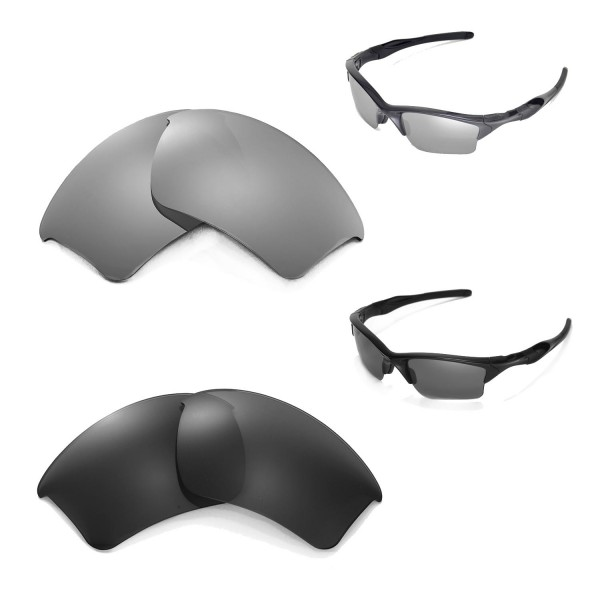 oakley half jacket 2.0 lenses polarized vtma  Walleva Titanium + Black Polarized Replacement Lenses for Oakley Half  Jacket 20 XL Sunglasses
