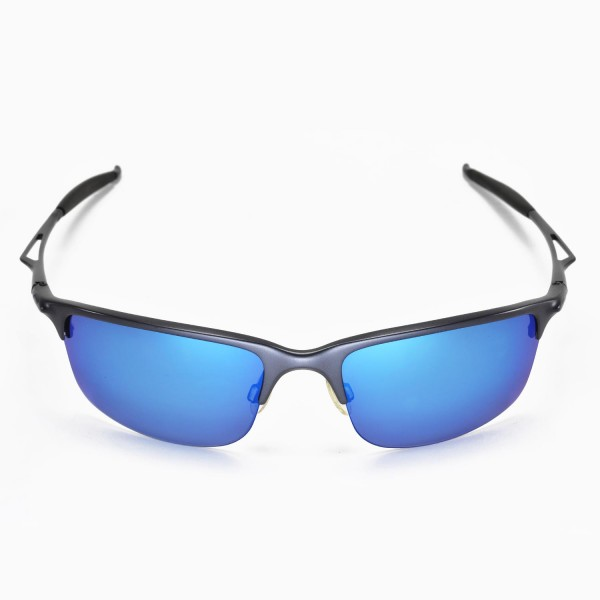 5d89deb955 Walleva Replacement Lenses for Oakley Half Wire 2.0 Sunglasses - Multiple  Options Available (Ice .