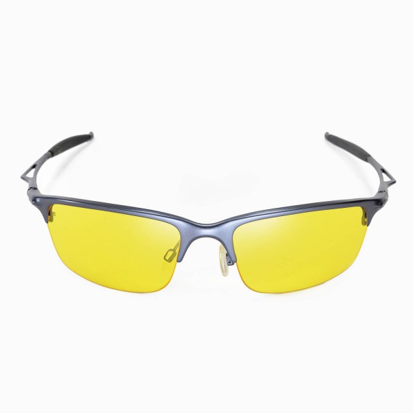a00a6da99d3 Walleva Yellow Replacement Lenses for Oakley Half Wire 2.0 Sunglasses
