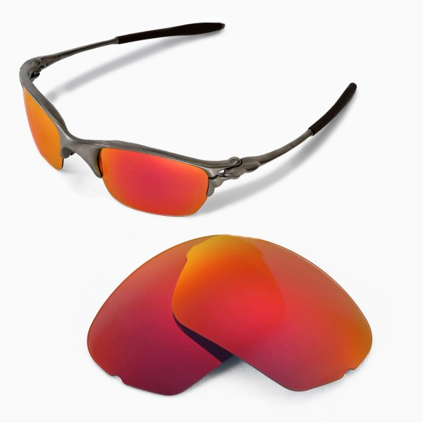 oakley half x sunglasses  walleva replacement lenses for oakley half x sunglasses multiple options available (fire red mirror coated polarized)