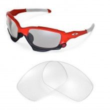 Walleva Clear Replacement Lenses for Oakley Racing Jacket Sunglasses