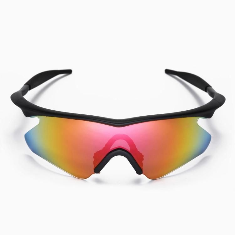 Oakley M Orange Frame Multicolor Lens Sunglasses