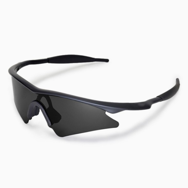 walleva polarized black replacement lenses with black nosepad for oakley m frame sweep sunglasses