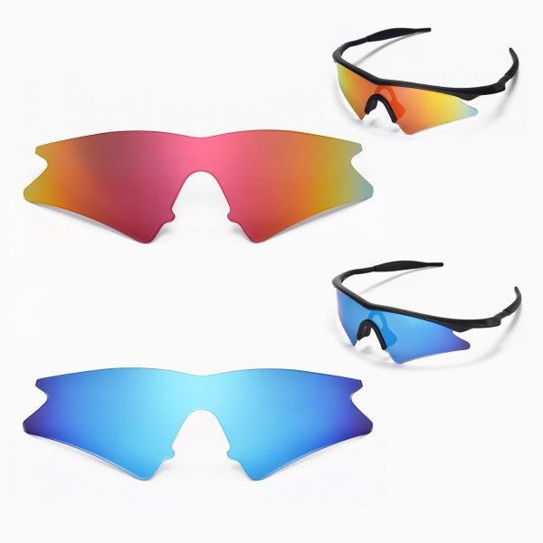 new walleva polarized fire red ice blue lenses for oakley m frame sweep