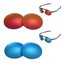 New Walleva Polarized Fire Red + Ice Blue Replacement Lenses For Oakley Madman Sunglasses