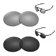 New Walleva Polarized Titanium + Black Replacement Lenses For Oakley Madman Sunglasses