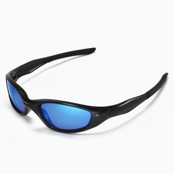 oakley mens minute sunglasses  walleva replacement lenses for oakley minute 2.0 sunglasses multiple options available (ice blue coated polarized)