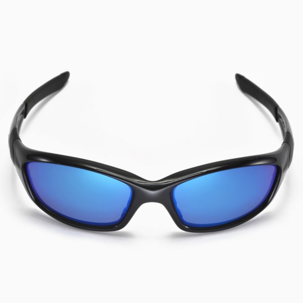 Oakley Straight Sunglasses  walleva ice blue replacement lenses for oakley straight jacket