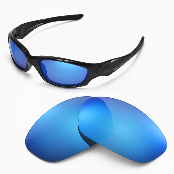 Walleva Ice Blue Replacement Lenses for Oakley Straight Jacket ...