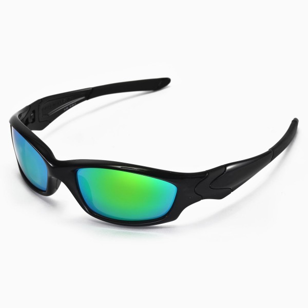 oakley sunglasses straight jacket  walleva replacement lenses for oakley straight jacket sunglasses multiple options available (emerald mirror coated polarized)