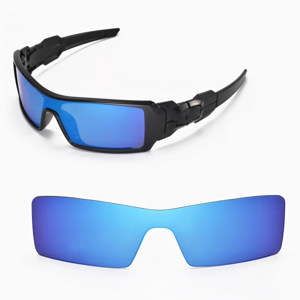 replacement lenses for oakley oil rigs btst  Walleva Replacement Lenses for Oakley Oil Rig Sunglasses