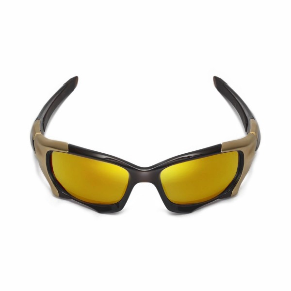 f9ee6b638416 New Walleva Polarized 24K Gold Replacement Lenses For Oakley PIT BOSS II  Sunglasses