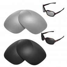 New Walleva Polarized Titanium + Black Replacement Lenses For Oakley Pulse Sunglasses