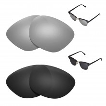 New Walleva Polarized Titanium + Black Replacement Lenses For Ray-Ban Clubmaster RB3016 51mm Sunglasses