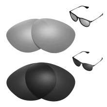 New Walleva Polarized Titanium + Black Replacement Lenses For Ray-Ban Erika RB4171 54mm Sunglasses