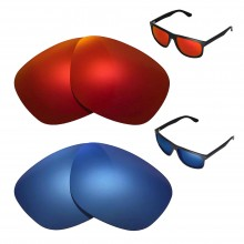 New Walleva Polarized Fire Red + Ice Blue Replacement Lenses For Ray-Ban RB4147 60mm Sunglasses