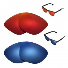 New Walleva Polarized Fire Red + Ice Blue Replacement Lenses For Ray-Ban RB4175 57mm Sunglasses